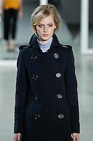 Julia Nobis walks down runway for F2012 Derek Lam's collection in Mercedes Benz fashion week in New York on Feb 10, 2012 NYC