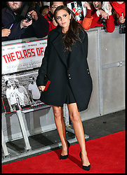 Victoria Beckham arrives at the The Class of 92 premiere in London, Sunday, 1st December 2013. <br /> Picture by Stephen Lock / i-Images