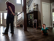 """Tom wanders aimlessly through the house not recognizing that a baby is crying, and that the baby is his 12 month old grandson, David. """"It's heartbreaking to get frustrated too because we know it's not his fault,"""" Abby said."""