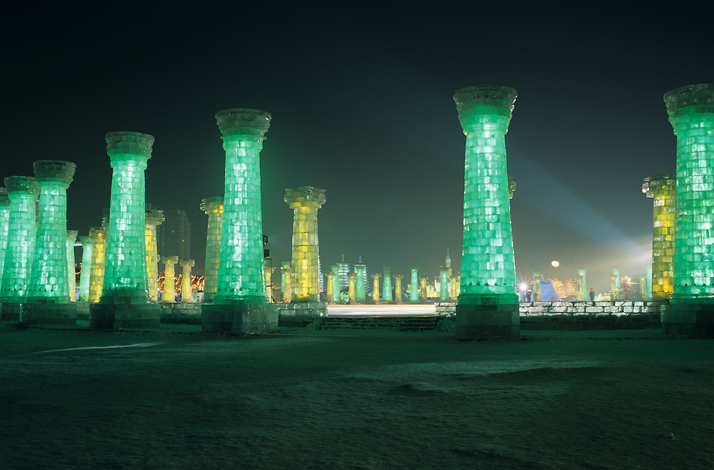 Harbin Ice Festival, Harbin City, Heilongjiang Province, Northeast China