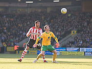 Saturday February 20th 2010: Norwich City play Southampton at the Canaries home ground Carrow road. Wes Hoolahan for Norwich and Jon Otsemobor for Southampton..