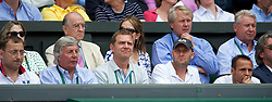 LONDON, ENGLAND - Sunday, July 4th, 2010: David Vydra (2nd from right Berdych's fitness coach) and Tomas Krupa (Right Berdych's coach) during the Gentlemen's Singles Final match on day thirteen of the Wimbledon Lawn Tennis Championships at the All England Lawn Tennis and Croquet Club. (Pic by David Rawcliffe/Propaganda)