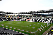 A resplendant Stadium MK during the Sky Bet Championship match between Milton Keynes Dons and Reading at stadium:mk, Milton Keynes, England on 16 January 2016. Photo by Dennis Goodwin.