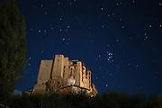 India, Ladakh region state of Jammu and Kashmir, Leh monastery at night long exposure