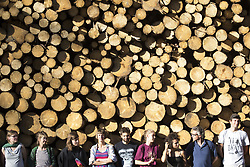 August 15, 2017 - Bialowieza, Poland - Members of ''Camp for forest'' organization stand near illegal logging during event near illegal logging near Bialowieza on August 15, 2017. (Credit Image: © Maciej Luczniewski/NurPhoto via ZUMA Press)