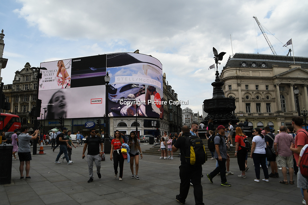 Piccadilly circus - Westend, London, UK July 19 2018.