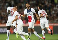 Fotball<br /> Frankrike<br /> 09.08.2013<br /> Foto: Panoramic/Digitalsport<br /> NORWAY ONLY<br /> <br /> Montpellier v Paris SG<br /> PSG feirer scoring av Maxwell