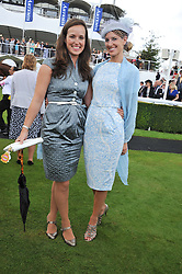 Left to right, VISCOUNTESS GRIMSTON and SUSANNA WARREN at the 3rd day of the 2012 Glorious Goodwood racing festival at Goodwood Racecourse, West Sussex on 2nd August 2012.