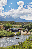 Summer at River Runners rafting company on the Arkansas River near Buena Vista, Colorado.