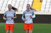 Fifa Womans World Cup Canada 2015 - Preview //<br /> Cyprus Cup 2015 Tournament ( Gsp Stadium Nicosia - Cyprus ) - <br /> Netherlands vs England 1-1   //  Claudia van den Heiligenber (L) and Anouk Hoogendijk (R) of Netherlands