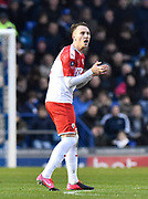 Cauley Woodrow (9) of Barnsley during the The FA Cup match between Portsmouth and Barnsley at Fratton Park, Portsmouth, England on 25 January 2020.