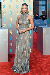 February 11, 2019 - London, New York, United Kingdom of Great Britain and Northern Ireland - Laura Whitmore arriving at the EE British Academy Film Awards on at the Royal Albert Hall on February 10 2019 in London, England  (Credit Image: © Famous/Ace Pictures via ZUMA Press)