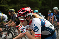 Daria Pikulik (POL) of Cervélo-Bigla Cycling Team opens a gel on Stage 2 of the Ladies Tour of Norway - a 140.4 km road race, between Sarpsborg and Fredrikstad on August 19, 2017, in Ostfold, Norway. (Photo by Balint Hamvas/Velofocus.com)