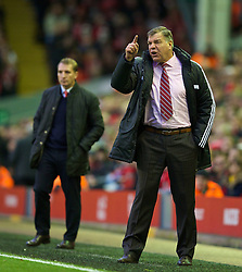 07.12.2013, Anfield Stadion, Liverpool, ENG, Premier League, FC Liverpool vs West Ham United, 15. Runde, im Bild West Ham United's manager Sam Allardyce during the Premiership match against Liverpool at Anfield // during the English Premier League 15th round match between Liverpool FC and West Ham United FC at Anfield Stadion in Liverpool, Great Britain on 2013/12/07. EXPA Pictures © 2013, PhotoCredit: EXPA/ Propagandaphoto/ David Rawcliffe<br /> <br /> *****ATTENTION - OUT of ENG, GBR*****