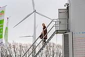 Koningin Maxima bezoekt windmolenpark