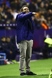 January 4, 2019 - Valencia, Spain - Head coach  of Girona FC  Eusebio Sacristan   during  spanish La Liga match between Levante UD vs Girona FC  at Ciutat de Valencia  Stadium on January  4, 2018. (Photo by Jose Miguel Fernandez/NurPhoto) (Credit Image: © Jose Miguel Fernandez/NurPhoto via ZUMA Press)