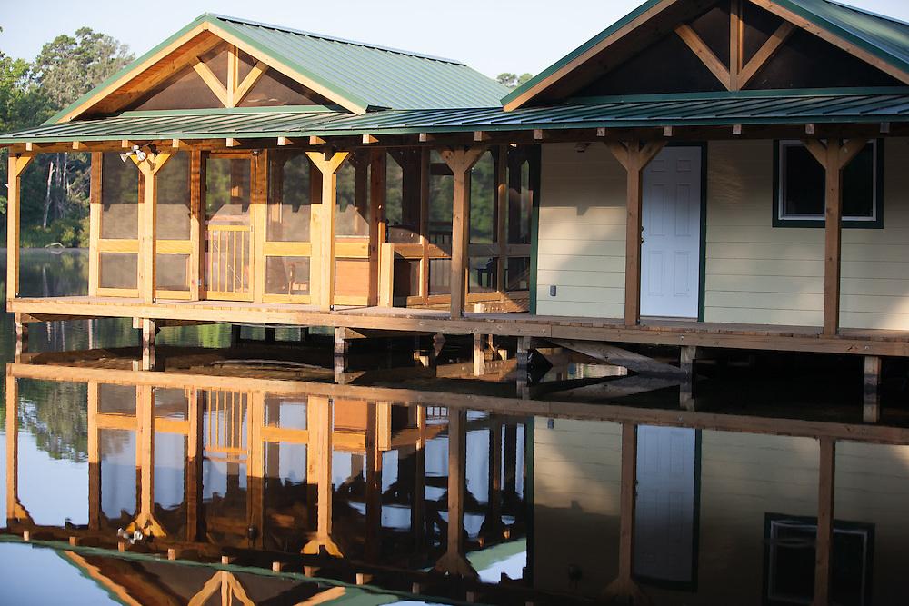 Boat house at Rock Falls