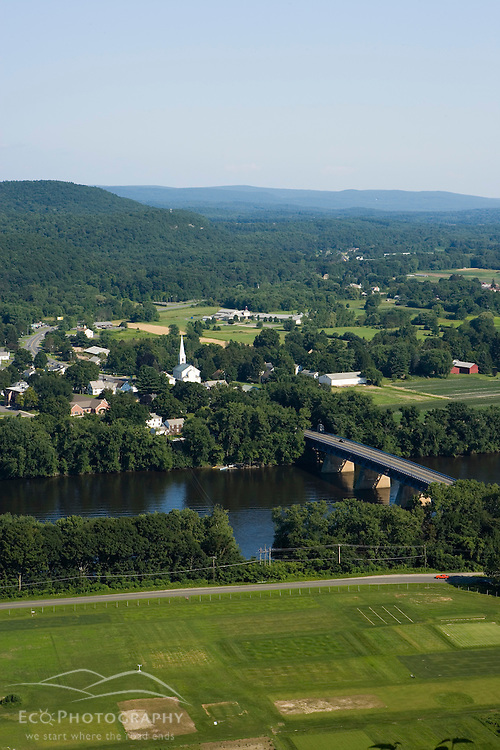 The Connecticut River as seen from South Sugarloaf Mountain in Deerfield, Massachusetts.