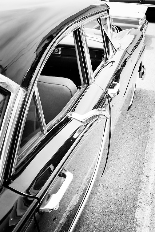 The gleaming lines of a hot rod in black and white Selected black and white images of classic, vintage, and collectible automobiles