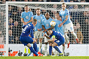 GOAL 2-0 Chelsea midfielder Ross Barkley (8) scores a free-kick during the Europa League match between Chelsea and Malmo FF at Stamford Bridge, London, England on 21 February 2019.