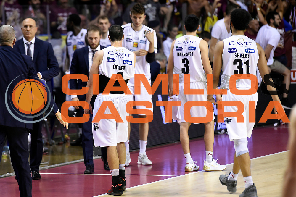 Aaron Craft, Shavon Shields<br /> Umana Reyer Venezia - Dolomiti Energia Aquila Basket Trento<br /> Lega Basket Serie A 2016/2017<br /> Playoff, finale gara 5<br /> Venezia, 18/06/2017<br /> Foto M.Ceretti / Ciamillo-Castoria