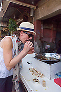 Traditional 'escargot,' local Marrakesh cuisine dish, Marrakech, Morocco, 2016–04-16. <br />