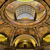 Missouri State Capitol Rotunda Dome in Jefferson City, Missouri<br />