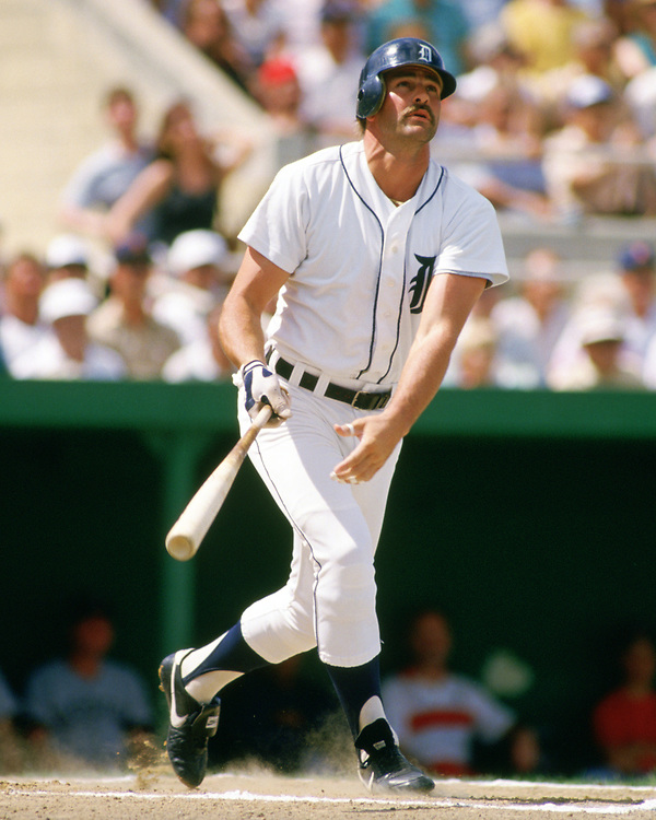 LAKELAND, FLORIDA - 1986:  Kirk Gibson of the Detroit Tigers bats during a major league baseball spring training game at Joke Marchant Stadium in Lakeland, Florida prior to the 1986 season.  (Photo by Ron Vesely).  Subject:   Kirk Gibson