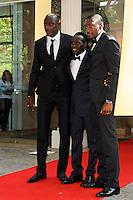 Mouhamadou DIAW / Cheikh Ndoye / Karl Toko Ekambi - 17.05.2015 - Ceremonie des Trophees UNFP 2015<br /> Photo : Nolwenn Le Gouic / Icon Sport