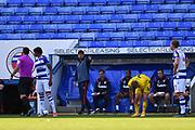 Reading Manager Veljko Paunovic gestures during the EFL Sky Bet Championship match between Reading and Barnsley at the Madejski Stadium, Reading, England on 19 September 2020.
