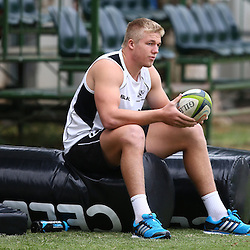 DURBAN, SOUTH AFRICA - Pieter-Steph du Toit during the Cell C Sharks training session at Growthpoint Kings Par in Durban, South Africa. (Photo by Steve Haag)