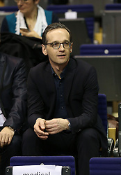 31.01.2016, Max Schmeling Halle, Berlin, GER, German Open 2016, im Bild Bundesjustizminister Heiko Maas zu Gast // during the table Tennis 2016 German Open at the Max Schmeling Halle in Berlin, Germany on 2016/01/31. EXPA Pictures © 2016, PhotoCredit: EXPA/ Eibner-Pressefoto/ Wuest<br /> <br /> *****ATTENTION - OUT of GER*****