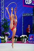 Minagawa Kaho during Qualification of hoop at World Cup Pesaro 2018.<br />