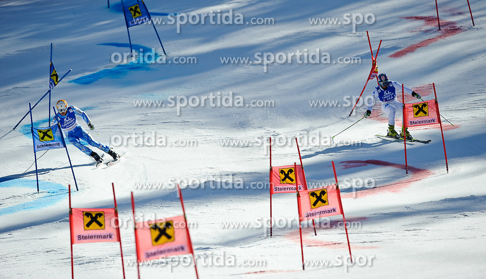 16.03.2012, Planai, Schladming, AUT, FIS Weltcup Ski Alpin, Teambewerb, im Bild ein Feature // during Nation Team Event of FIS Ski Alpine World Cup at 'Planai' course in Schladming, Austria on 2012/03/16. EXPA Pictures © 2012, PhotoCredit: EXPA/ Sandro Zangrando