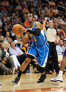Jan. 30, 2011; Phoenix, AZ, USA; New Orleans Hornets guard Chris Paul (3) drives the ball against the Phoenix Suns during the first half at the US Airways Center. Mandatory Credit: Jennifer Stewart-US PRESSWIRE