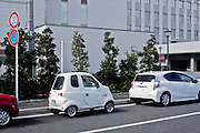 parked small single person disability vehicle Japan