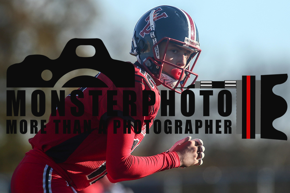 William Penn quarterback Noah Ogbin (12) lines up in the shotgun formation during a Week 9 DIAA football game between William Penn and Charter School of Wilmington Saturday, Nov. 05, 2016, at William Penn Stadium in New Castle.