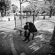 TOKYO, JAPAN - OCTOBER 23 : A salaryman resting in the park on a lunch break in Tokyo, Japan October 23, 2015.<br /> <br /> Richard Atrero de Guzman