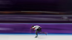 Japan's Takuro Oda in the Men's 1000m Speed Skating at the Gangneung Oval during day fourteen of the PyeongChang 2018 Winter Olympic Games in South Korea.