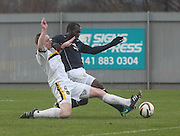 Christian Nade and Andrew Graham - Dumbarton v Dundee  - SPFL Championship at the Bet Butler Stadium<br /> <br />  - &copy; David Young - www.davidyoungphoto.co.uk - email: davidyoungphoto@gmail.com