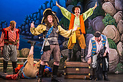 Dress rehearsal for The Pirates of Penzance performed by during the National Gilbert & Sullivan Opera Company Tour in Buxton Opera House Buxton, England on Tuesday 31 July 2018 Photo: Jane Stokes<br /> <br /> DIRECTOR/Richard Gauntlett<br /> CONDUCTOR/Andrew Nicklin<br /> CHOREOGRAPHER/Danielle Dowsett<br /> MAJOR-GENERAL STANLEY/Richard Gauntlett<br /> THE PIRATE KING/Eddie Wade<br /> SAMUEL/Stephen Godward<br /> FREDERIC/Nick Sales<br /> SERGEANT OF POLICE/ Matthew Kellett<br /> MABEL/Ellen Angharad Williams<br /> EDITH/Jennifer Parker<br /> KATE/Stephanie Poropat<br /> ISABEL/Alexandra Hazard<br /> RUTH/Mae Hendorn<br /> <br /> THE CHORUS<br /> Hannah Boxall, Nicole Boardman, Rhiannon Doogan, Joanna Goldspink, Maisy Hepburn, Juliet Montgomery, Julie Power, Eloise Waterhouse, Emma Watkinson<br /> <br /> Andrew Brown, Tom Blackwell, Peter Brooks, Stephen Fawell, Stephen Godward, Michael Vincent Jones, Matthew Siveter, Henry Smith, Jonathan Stevens, Tim Southgate<br /> <br /> TOUR MANAGER/Neil Smith<br /> STAGE MANAGER/Sarah Kent<br /> ASSISTANT STAGE MANAGER/Claire Litton<br /> LIGHTING DESIGN/David Marsden<br /> WARDROBE SUPERVISOR/ David Morgan<br /> SET DESIGN/ Paul Lazell<br /> REPETITEUR/Erica Gundesen