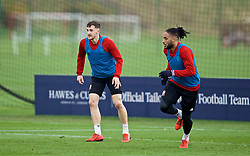 MANCHESTER, ENGLAND - Monday, March 18, 2019: Wales' Tom Lockyer during a training session at Manchester United's Trafford Training Centre ahead of an international friendly match against Trinidad and Tobago. (Pic by David Rawcliffe/Propaganda)