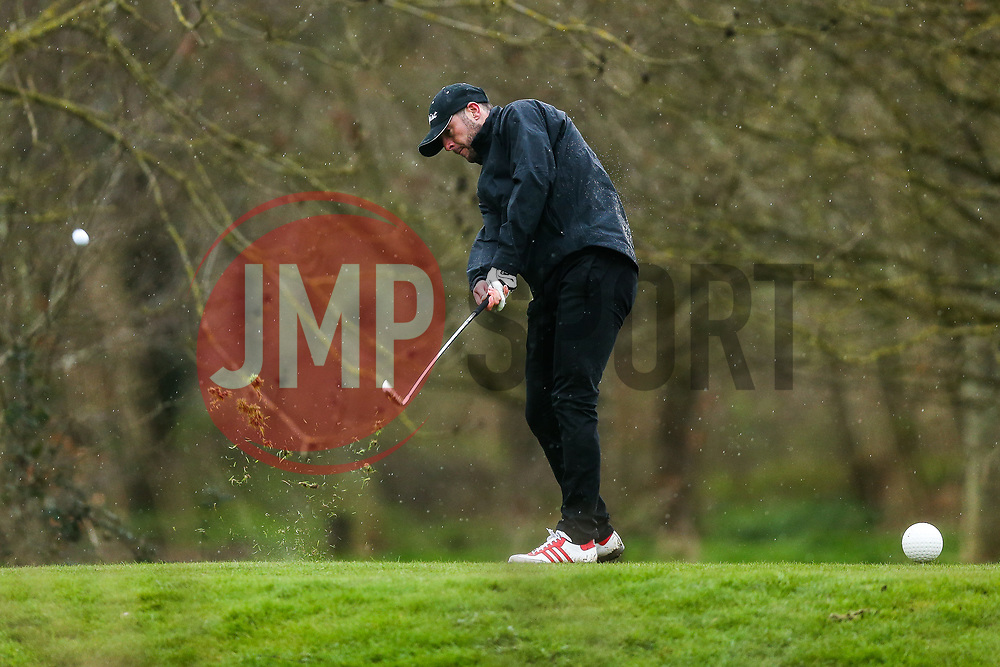 Jamie McAllister in action on the Bristol City golf day in aid of Childrens Hospice South West and the Bristol City Community Trust - Rogan Thomson/JMP - 21/03/2017 - GOLF - Mendip Springs Golf Club - Bristol, England - Bristol City Charity Golf Day.