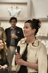Designer Kate Spade Died At 55. Kate Spade was found dead in apparent suicide on June 5, 2018 - Kate Spade speaks to the crowd during an event at Hall's on Grand at Crown Center Plaza on Wednesday, March 9, 2016 in Kansas City, Mo, USA. Photo by Shane Keyser/Kansas City Star/TNS/ABACAPRESS.COM