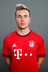16.07.2015, Saebener Strasse, Muenchen, GER, 1. FBL, FC Bayern Muenchen, Fototermin, im Bild Mario Goetze #19 (FC Bayern Muenchen) // during the official Team and Portrait Photoshoot of German Bundesliga Club FC Bayern Munich at the Saebener Strasse in Muenchen, Germany on 2015/07/16. EXPA Pictures © 2015, PhotoCredit: EXPA/ Eibner-Pressefoto/ Kolbert<br /> <br /> *****ATTENTION - OUT of GER*****