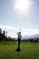 24 January 2009: Celebrity golfer Michael Bolton at Palmer Private at PGA West in La Quinta, California during the fourth round of play at the 50th Bob Hope Classic, PGA golf tournament.