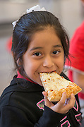 Students enjoy the kick-off of the Nutrition Services Summer Meals program at Gregg Elementary School, June 3, 2015.