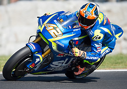 October 20, 2017 - Melbourne, Victoria, Australia - Spanish rider Axel Rins (#42) of Team SUZUKI ECSTAR in action during the second free practice session at the 2017 Australian MotoGP at Phillip Island, Australia. (Credit Image: © Theo Karanikos via ZUMA Wire)