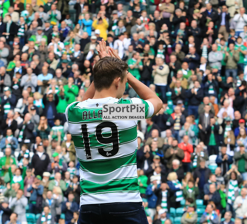 Scott Allan is presented to the fans before the Glasgow Celtic FC v Inverness Caledonian Thistle FC Scottish Premiership 15th August 2015 ©Edward Linton | SportPix.org.uk
