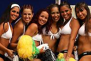 Football-FIFA Beach Soccer World Cup 2006 - Group D-Nigeria - Italy, Beachsoccer World Cup 2006.  Brasilian's dancing girls  - Rio de Janeiro - Brazil 04/11/2006<br /> Mandatory credit: FIFA/ Manuel Queimadelos